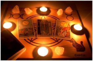 Tirada de Tarot con velas
